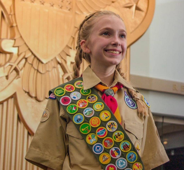 National BSA Female Eagle Scout Stock Photo