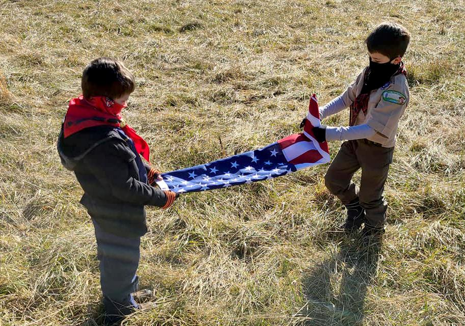 Pack 138 Scouts Folding Flag