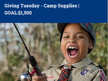 Giving Tuesday Camp Supplies