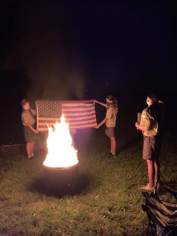 Scouts BSA Troop 1974 Flag Retirement Ceremony