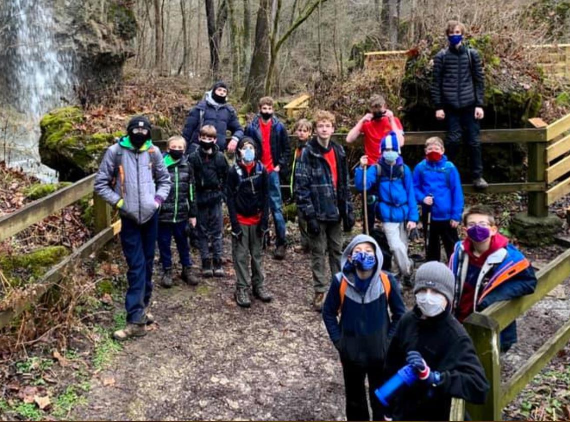 Troop 850 Clifton Gorge Hike Jan 2021