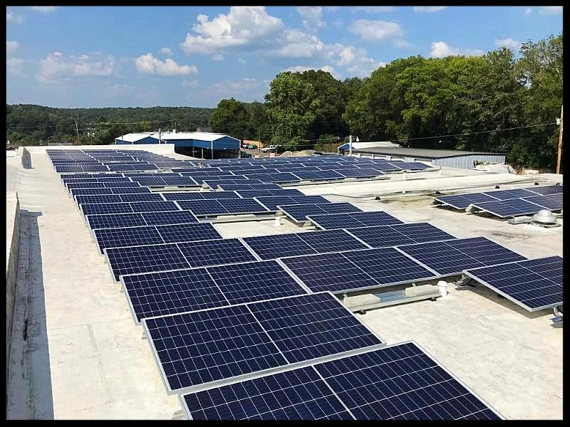 Hickman County Government Building with solar panels