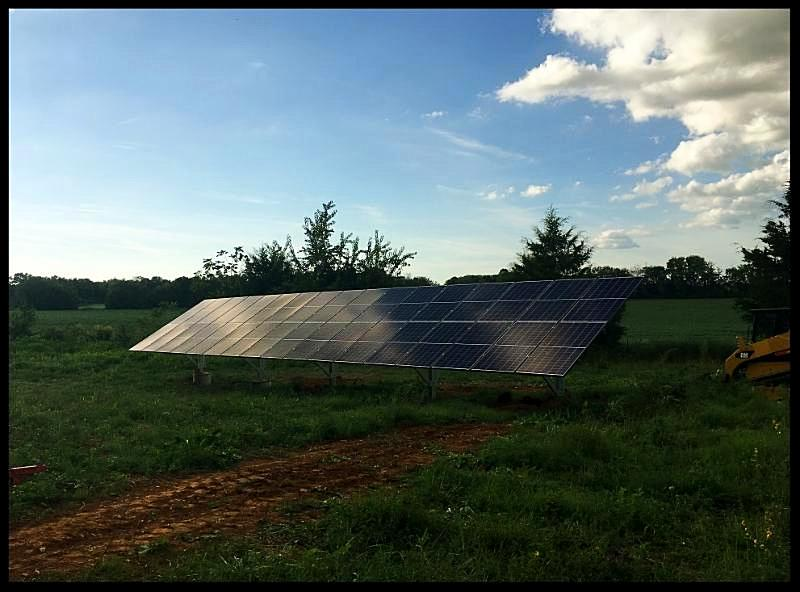 Solar panels installed at home in Decherd Tennessee