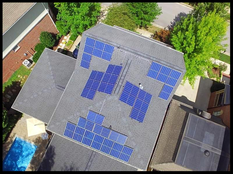 Solar panels in Franklin Tennessee