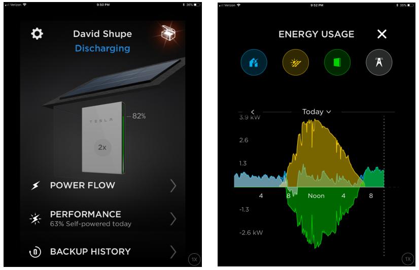 Tesla mobile app