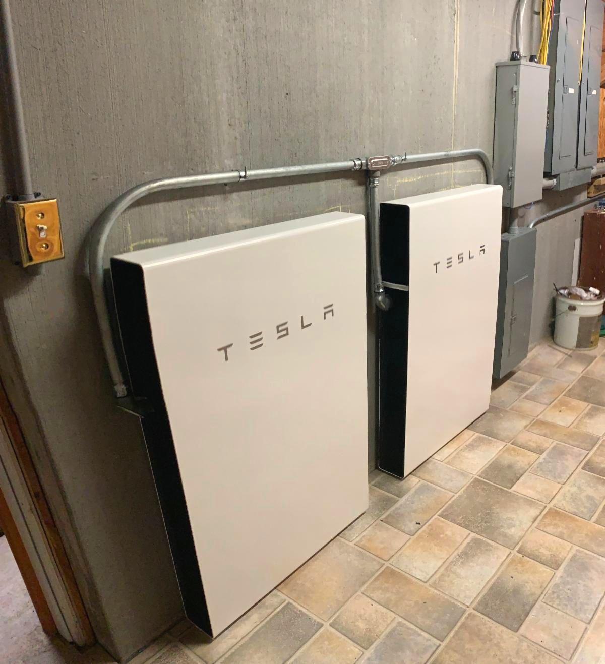 Tesla Powerwall system installed by LightWave Solar
