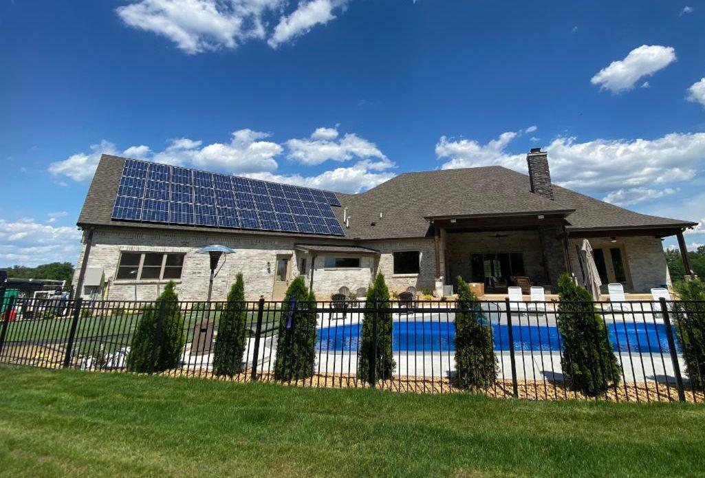 Residential solar panels installed in Lebanon TN