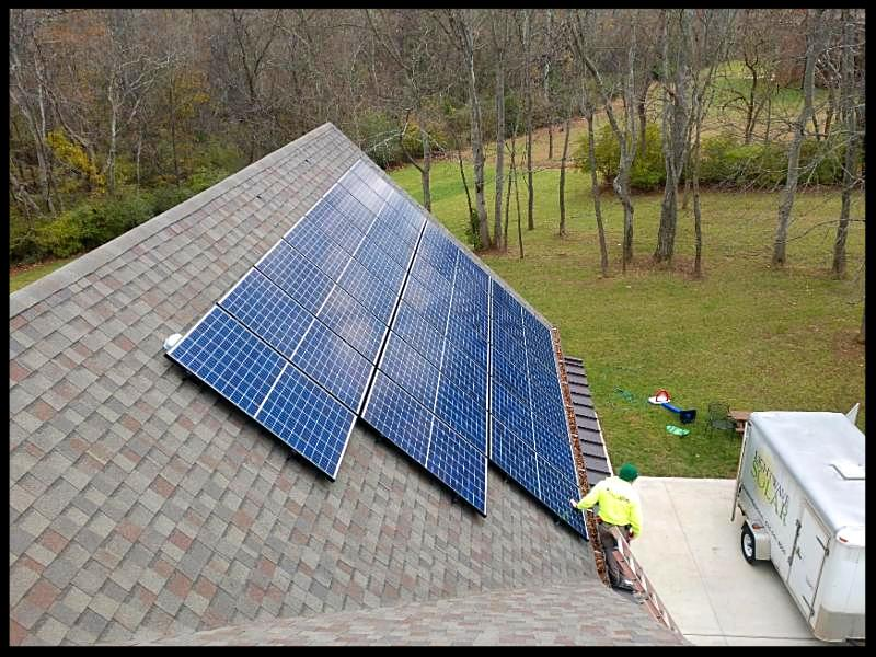 Solar panels at home in Brentwood Tennessee installed by LightWave Solar