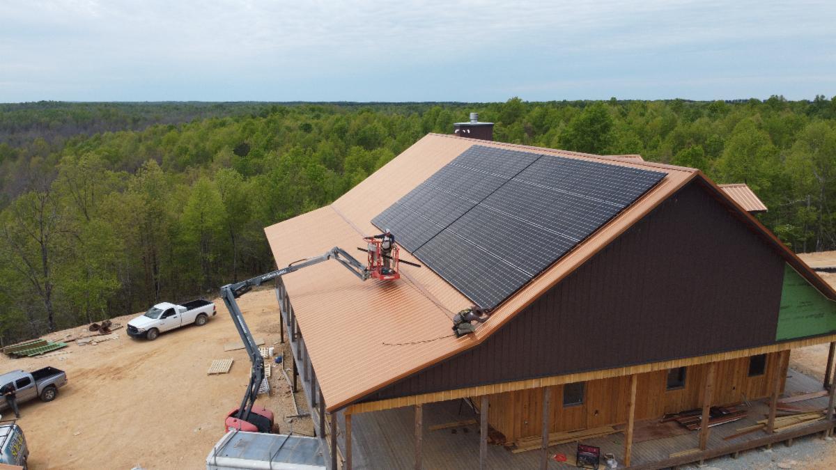 Off-grid home with LightWave Solar and Tesla Powerwalls