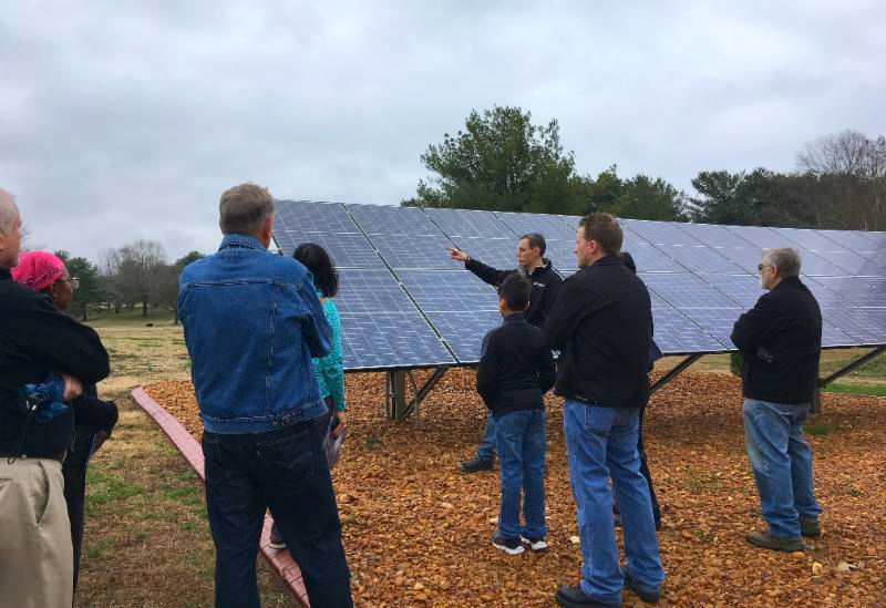 Solar tour at home in Clarksville Tennessee