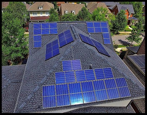 Solar panel installation on home in Westhaven in Franklin TN