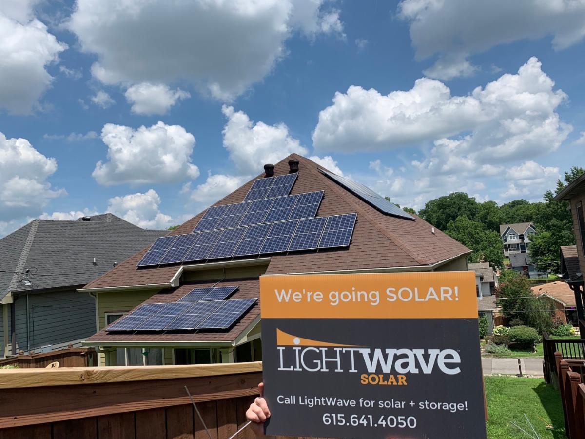 LightWave Solar at home in Nashville TN