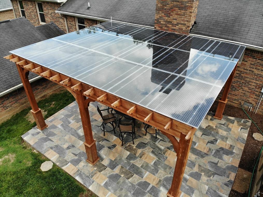 LightWave Solar installed Lumos solar canopy in Brentwood TN