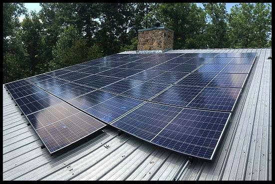 Solar panel installation at home in Tennessee