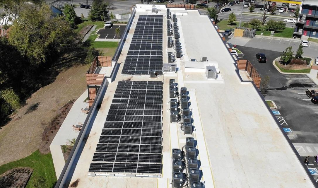 LightWave installed solar panels at 26th and Clarksville apartments in Nashville