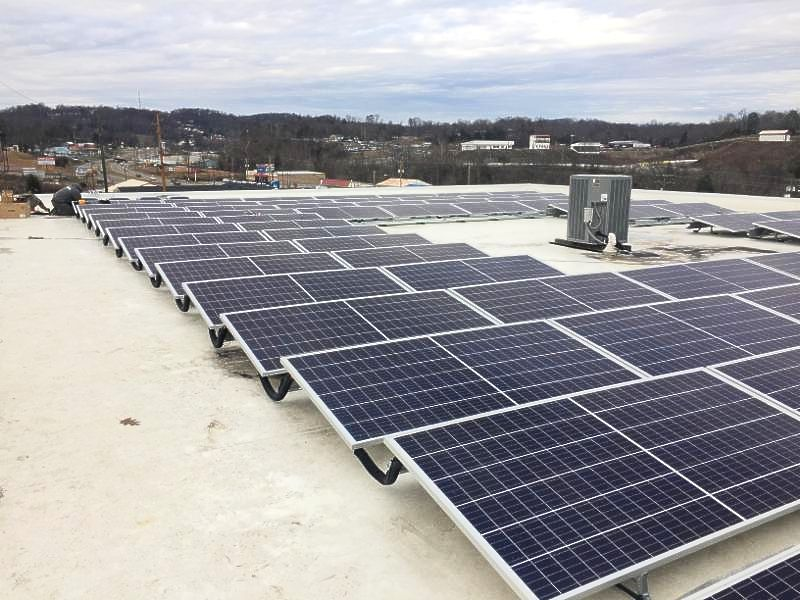 Cox Tractor solar panels in Kingsport Tennessee