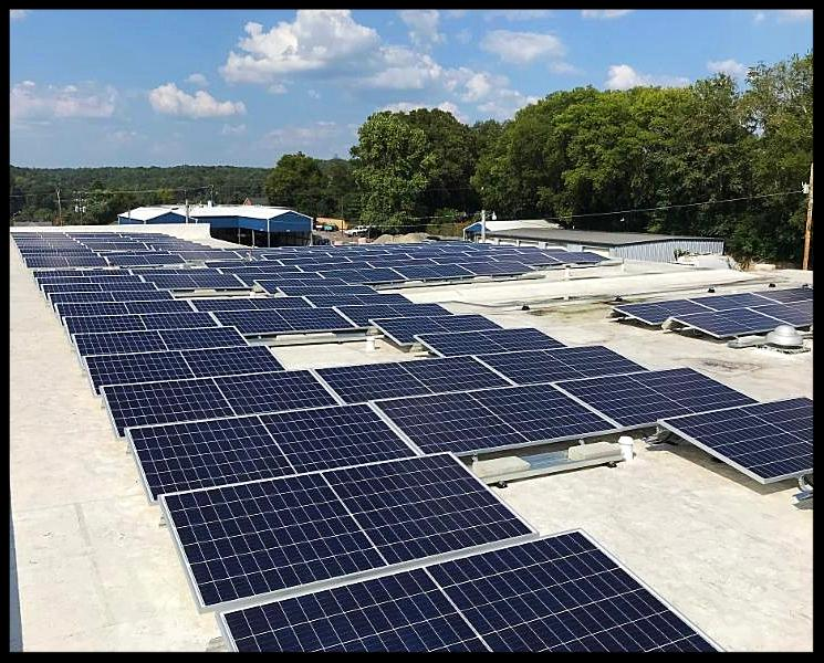 Solar panel installation at Hickman County government building
