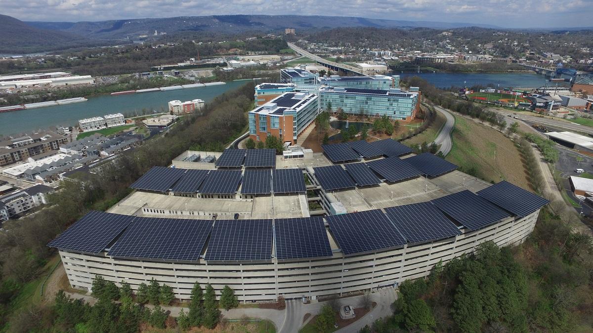 Blue Cross Blue Shield Solar Parking in Tennessee