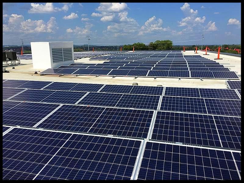 LightWave Solar installation at MNPD in Nashville TN