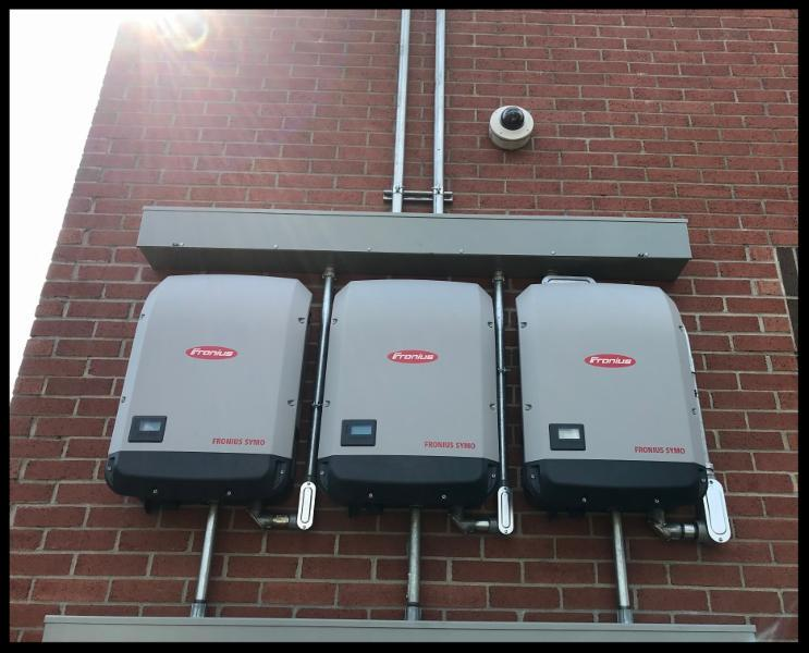 Solar inverters at Hickman County municipal building