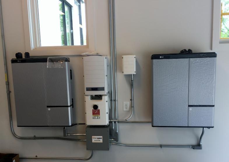 LightWave Solar installed solar plus LG Chem Batteries for home in Brentwood Tennessee