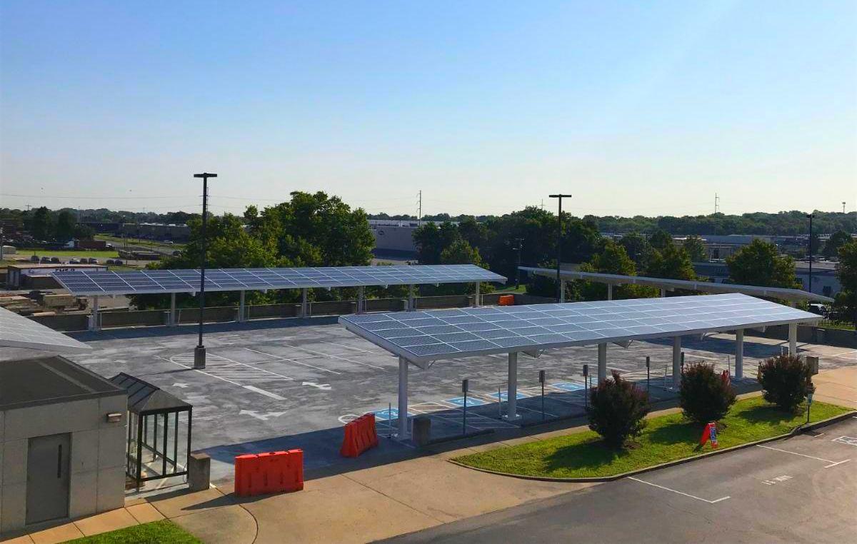LightWave Solar installs Solar Parking for TN Army National Guard