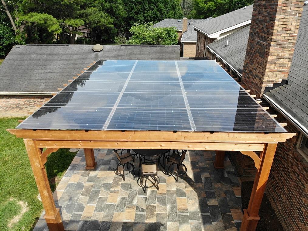 LIghtWave solar canopy for Brentwood home