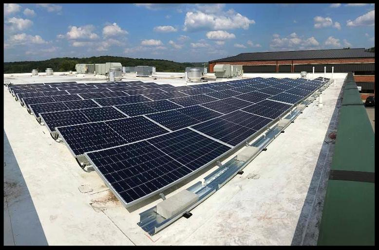 Hickman County Detention Center with solar panels