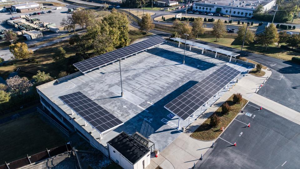 Army National Guard solar installed by LightWave Solar