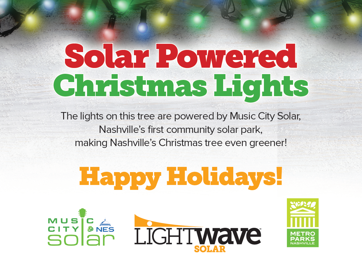 Nashville Chrismas Tree powered by Music City Solar