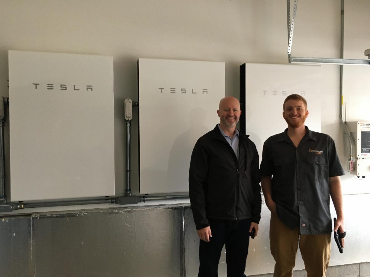 LightWave Solar installed Tesla Powerwall system at home in Franklin TN.