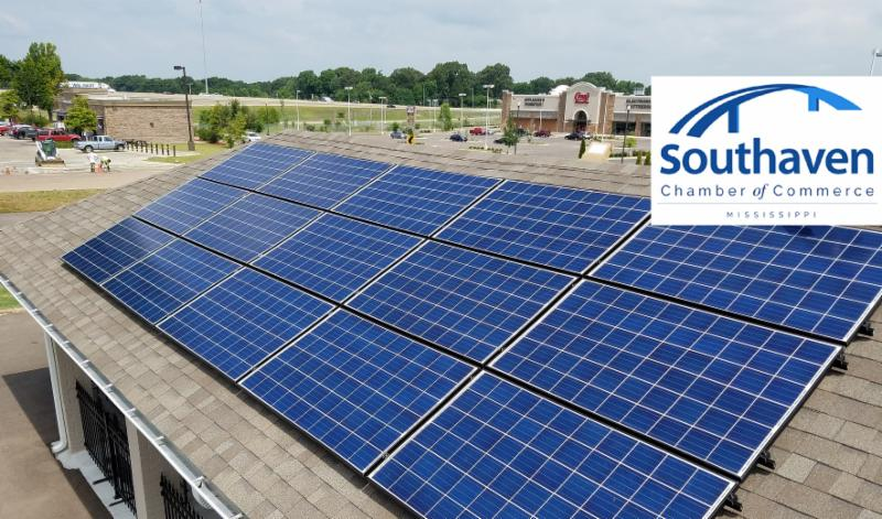 Solar panels at Southaven Mississippi Chamber of Commerce