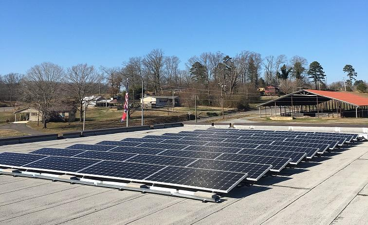 Solar at Army National Guard in Athens Tennessee