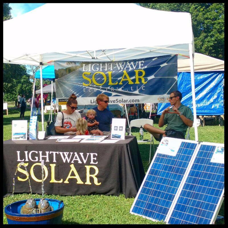 LightWave Solar at East Nashville Farmers Market