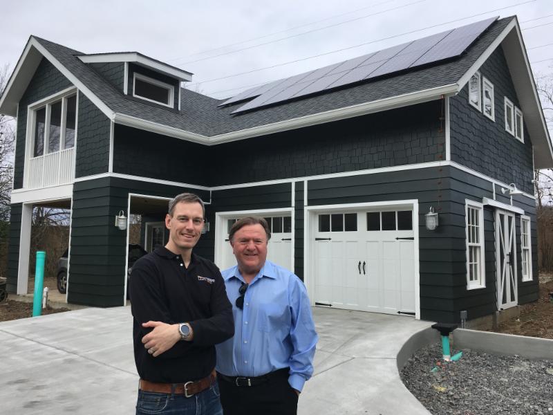 Solar storage at artist studio in Nashville Tennessee