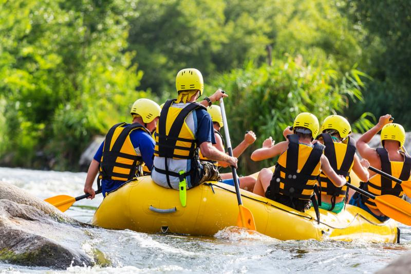 Rafting team _ summer extreme water sport
