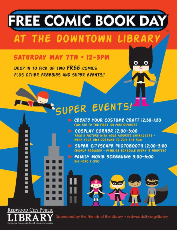 Free Comic Book Day at Redwood City Public Library
