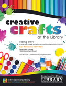 Creative Crafts at Redwood City Public Library