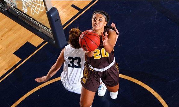 Rowan women's basketball player Nicole Mallard