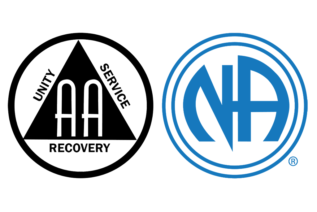Alcoholics Anonymous and Narcotics Anonymous' logos
