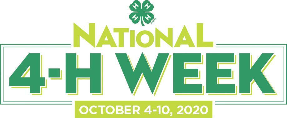 2020 National 4-H Week logo