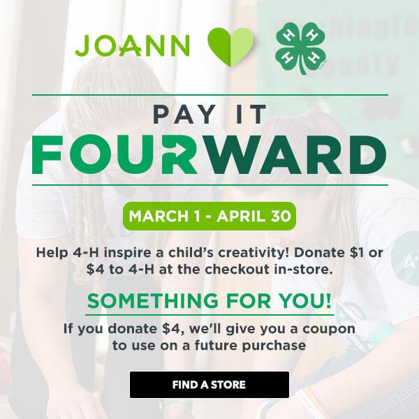 JOANN Pay it Fourward campaign