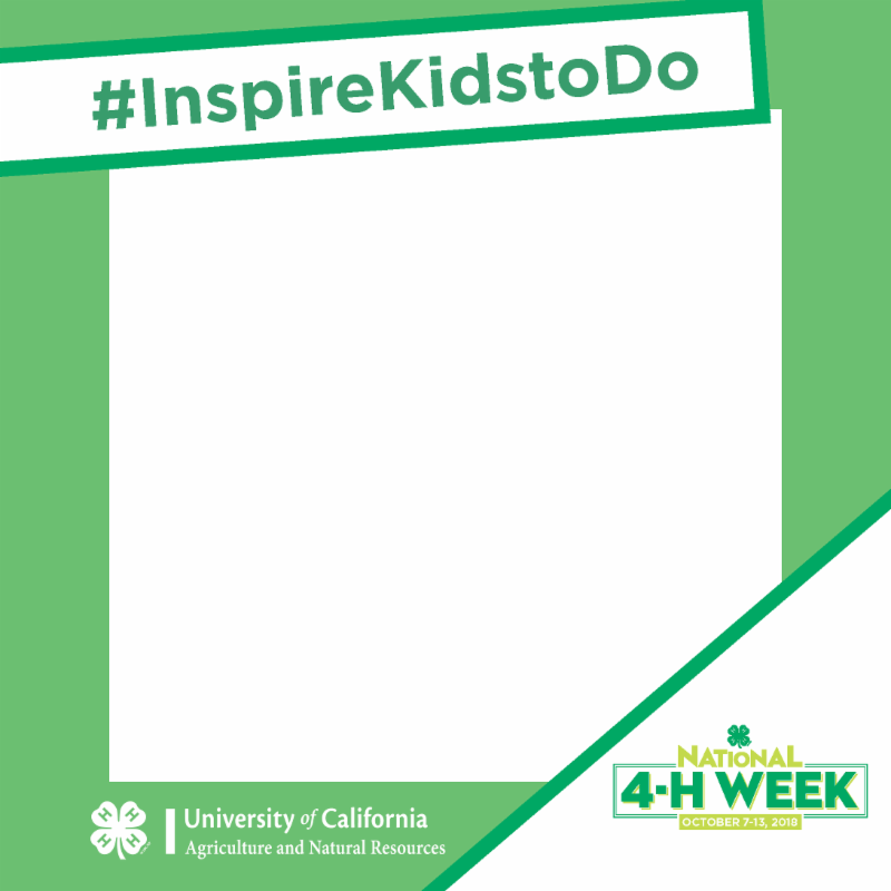National 4-H Week photo booth frame