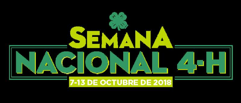 National 4-H Week 2018 Spanish logo