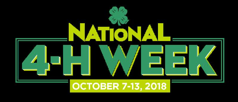 National 4-H Week 2018 logo