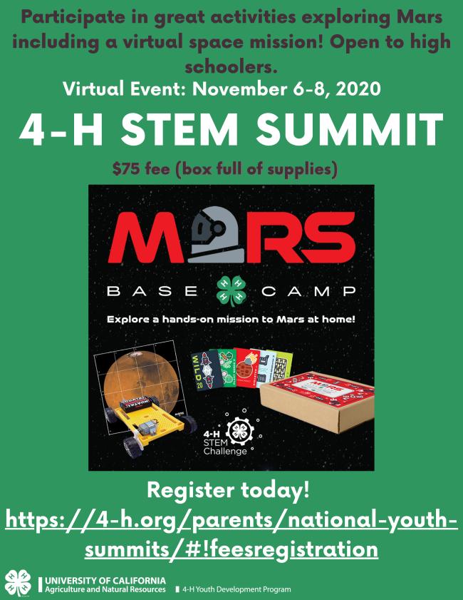 4-H STEM Summit flyer