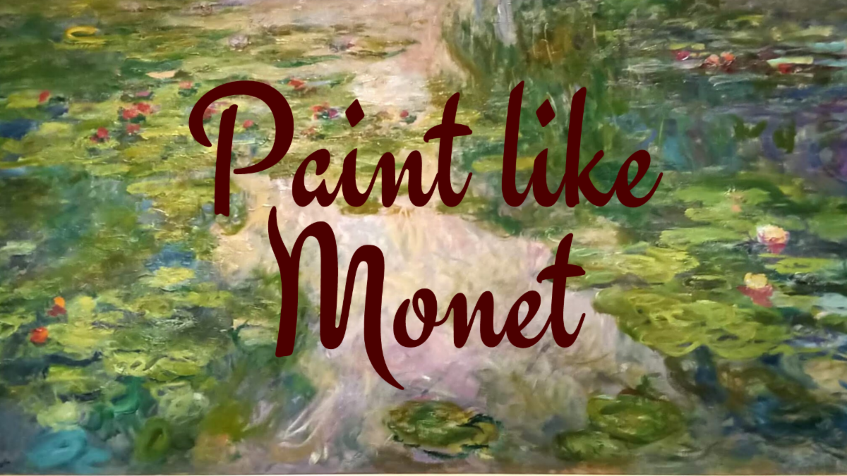 GPMA june 2020 newsletter - paint like Monet art class image