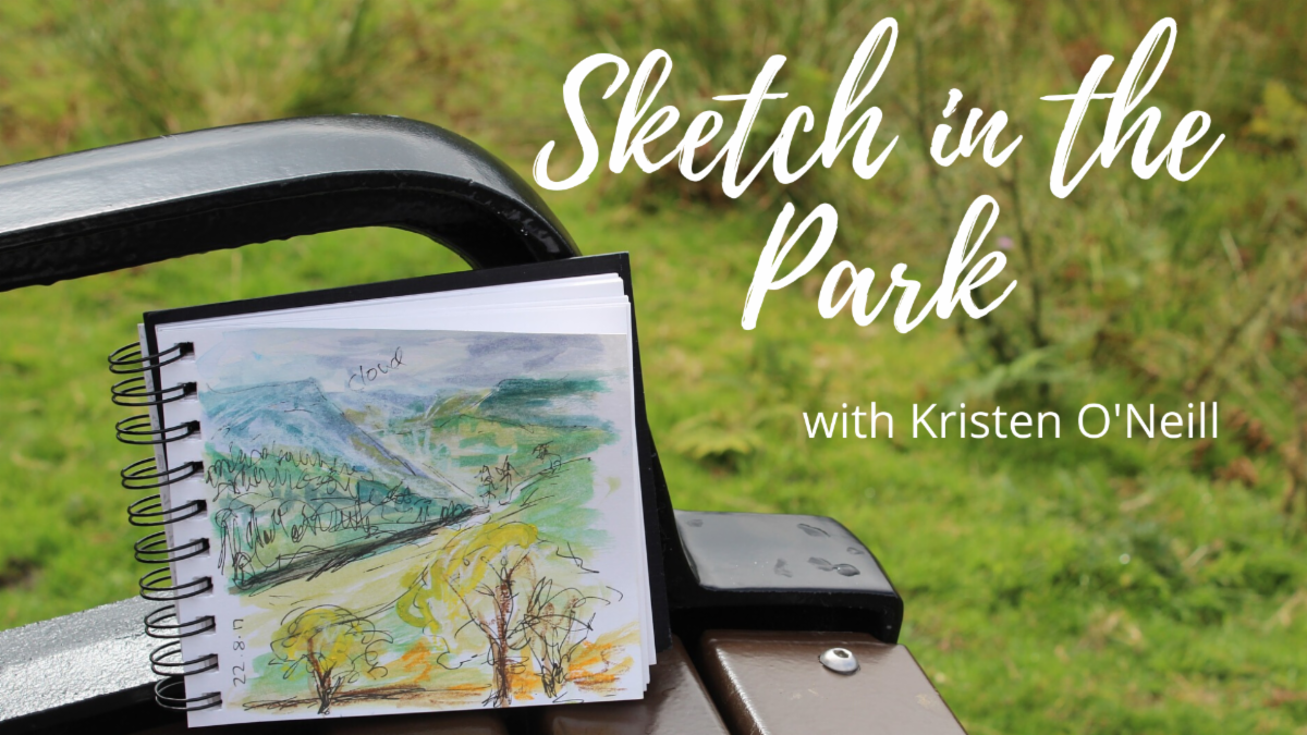 Grants Pass Museum of Art August Adult Art Classes - Sketch in the Park with Kristen O'Neill