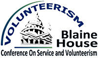 old conference logo  _ name_ Blaine House Conference on Service and Volunteerism
