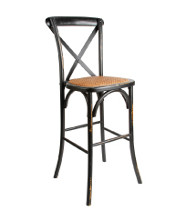 Black Distressed Barstool